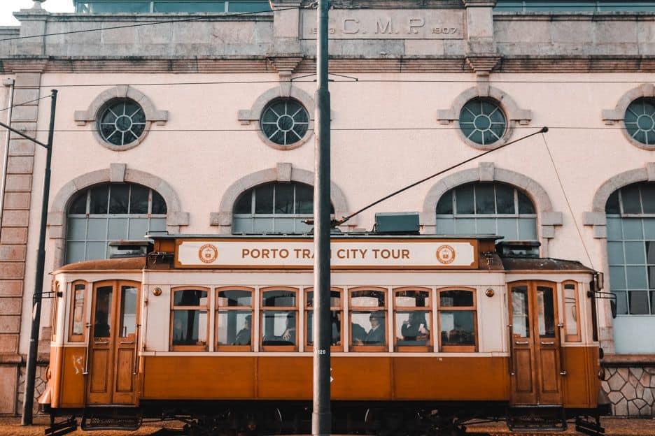 Bonde da cidade do Porto Portugal