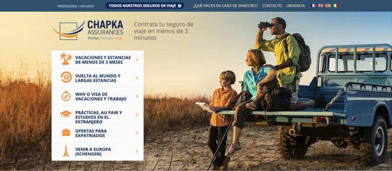 seguro de viaje Chapka
